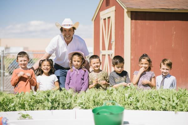 Kimbal Musk in Big Green learning garden