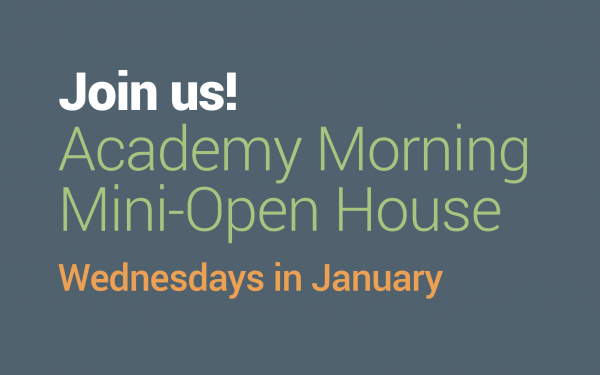 Academy Mornings—Wednesday's in January