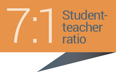 7:1 student-teacher ratio