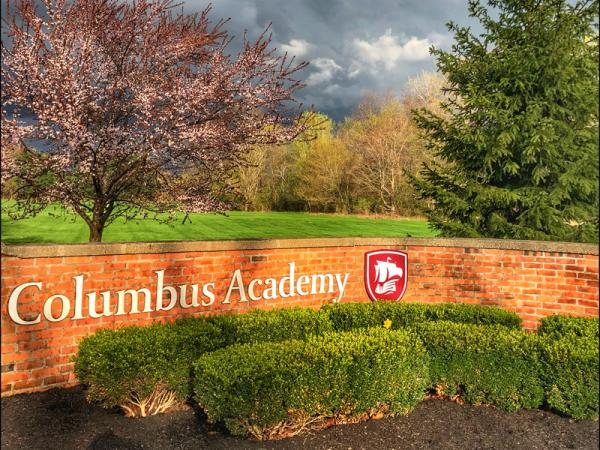 Columbus Academy entrance sign