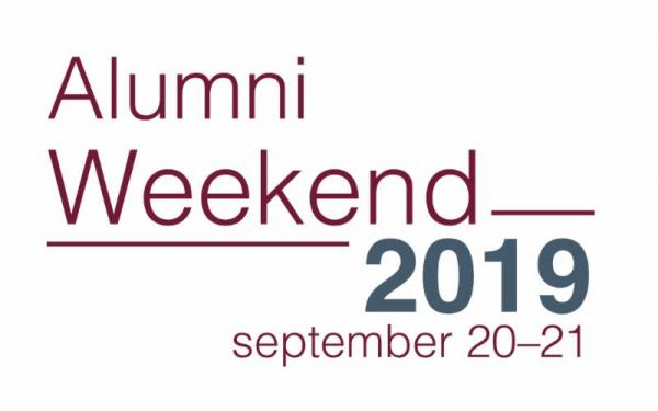 Alumni Weekend 2019 logo