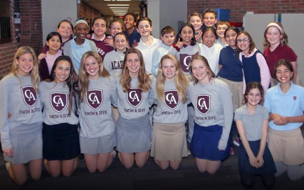 Columbus Academy State Swimmers 2020