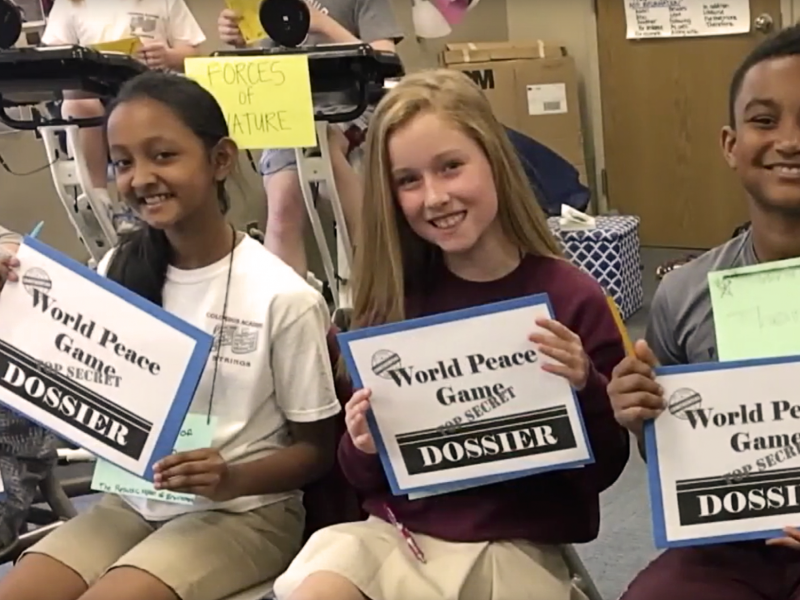 Students at Columbus Academy participate in the World Peace Games